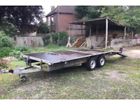 Flat bed trailer 16'x 6.8 twin axle 8 ply tyres 6' ramps heavy duty unit in excellent condition