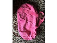 Bright pink American Apparel sports bag