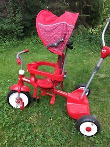 Radio Flyer petit tricycle/poussette pour enfant