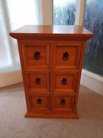 Mexican Style Pine CD/DVD Drawer Unit H64xW43xD34