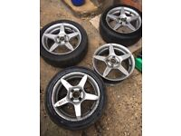 "MVK 1 4x98 15"" Alloy Wheels (Fiat Punto/500, Ford Ka 09+, Alfa Romeo etc.)"