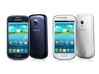New Samsung Galaxy S3 mini Black/White (UNLOCKED) BOXED Smartphone + free extras