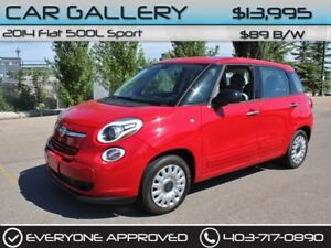 2014 Fiat 500L Sport $89B/W YOU'RE APPROVED-QUICK  EASY FINANCIN