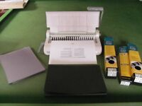 Fellowes Starlet 90 Spiral Binding Machine inc. Covers and Binders