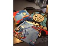 Thomas the tank curtains, rug and pillow