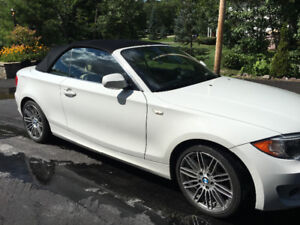 2012 BMW 1-Series 128i Cabriolet blanche - white convertible