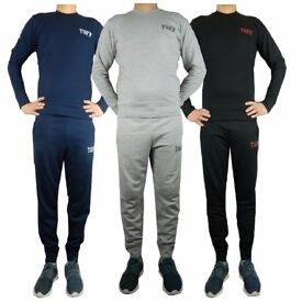 Job Lot Mens Tracksuit 100% Brand New Black Grey and Navy Blue Amazing Quality Best to Resell