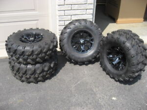 4 Swamp Lite Can Am ATV tires with ITP Rims