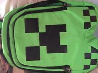 Minecraft creeper bag. NEVER USED
