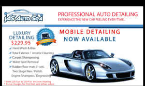 Auto Detailing starting at only $19.95