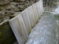 7 Unused large coping stones