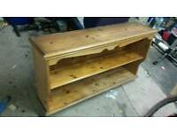 Pine shelving unit / dresser top