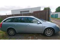 Breaking Nissan primera SE TD estate, car starts, miles, brand new battery, 3x almost new tyres