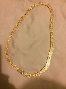 Gold plated double sided chain