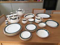 43 pieces! Royal Doulton Biltmore pattern; Dinnerware with Tea and Coffee pots - as new