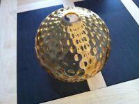 Light Shade- Amber Glass Globe