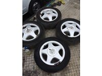 X4 Vauxhall Astra mk4 alloy wheels 3 road legal tyres 4 stud hole 195 60r15