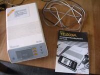 BT Robin Answering Machine with power supply and user guide (1980's era, excellent condition)