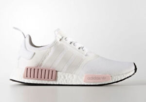 """**** Adidas NMD R1 """"White Rose"""" in White/Pink women's 7.5 & 9.5"""