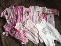 Lots of baby girl clothes,from new born up to 6 months,some have hardly been worn.