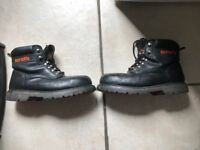 SCRUFFS TWISTER WORK BOOTS SIZE 9 GOOD CONDITION