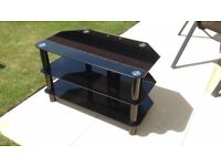 Black Glass TV stand, Good condition £12