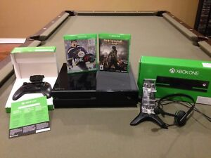 Xbox One with accessories and games