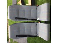 coach seat re-upholstered in VW T5 trim/topcloth; perfect for day van