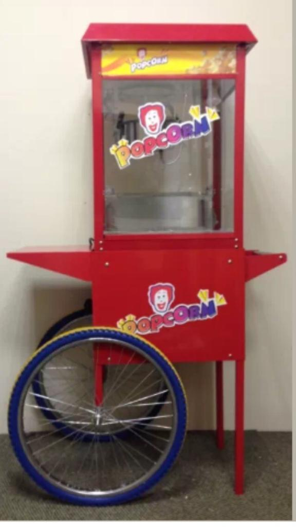 Brand New commercial popcorn maker Machine with cart