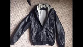 Topman real leather jacket