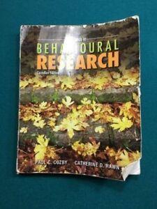 Methods in Behavioural Research