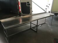 Large stainless steel work bench