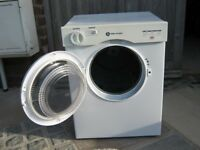 Small Whirlpool White Knight clothes drier - H67.5xW50.5XD50