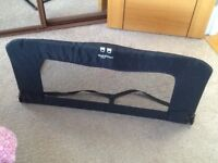 BabyDan black children's bed guard for use on a cot bed, single or double bed