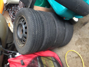 4 - 175/70/R14 tires and rims