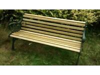 Classic garden bench seat, fully refurbished