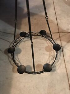 Antique Wrought Iron Candle Chandelier