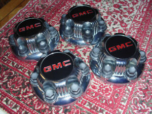 4 GMC WHEEL HUB CAPS