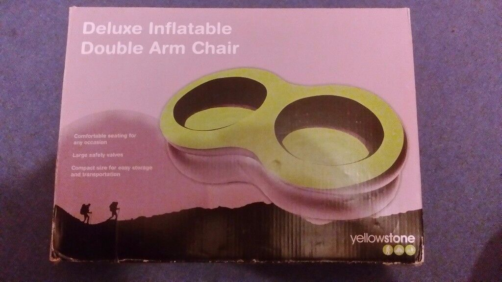 Brand New Yellowstone Deluxe Inflatable Double Arm chair Comfortable-compact for storage