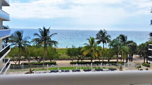 Upscale oceanfront building in Miami with direct ocean views.