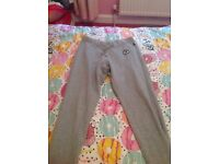 Girls grey converse tracksuit trousers