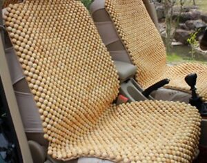 Wooden Beaded Seat Cushion - Brand New