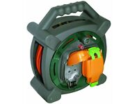 Masterplug HLP2013/2IP 20m Outdoor IP Rated Cable Reel with Weatherproof Sockets