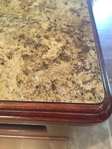 Counter top with wood edges