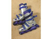 Inline rollerblades, size 9.