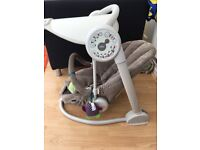 Mamas & Papas swing chair, with swing settings, audio chimes and iPhone dock with light display