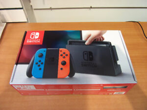 Brand New Unopened Red & Neon Blue Nintendo Switch