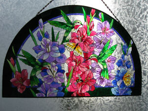 Stained Glass Window Art Hanging