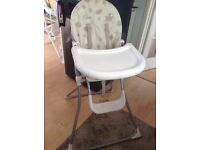 Baby high chair from mamas and papas