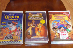 Lot of 3 Kids NEW VHS Lady and the Tramp, Oliver & Company, An A